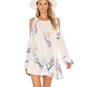Free People Clear Skies Cold Shoulder Tunic Top